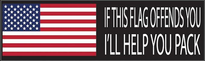 Dog 10x3 Patriotic Bumper Sticker Auto Decal Conservative Republican USA Flag American Patriot