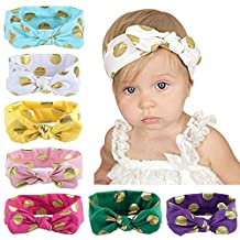 Itaar Baby Girl Headband Soft Bow Knot Cotton Head Wrap Set Of 8 Colors