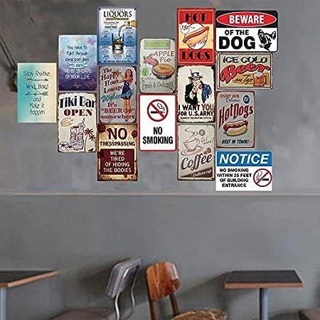 Emorias 1Pcs Plaque en Metal Indian Moto and Route 66 Poster Mural R/étro pour Cafe Home Bar Sticker Mural de D/écoration Mat/ériel 20X30cm M/étal