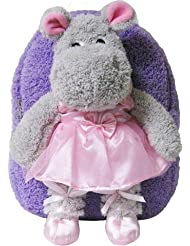 Kreative Kids 8250 Lavender Ballet Hippo Plush Backpack