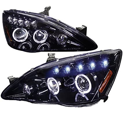 Amazon.com: Spec-D Tuning Honda Accord 2003 2004 2005 2006 2007 LED Halo Projector Headlights - Black: Automotive