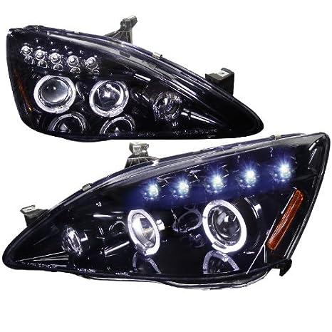 Amazon.com: Spec-D Tuning Honda Accord 2003 2004 2005 2006 2007 LED Halo Projector Headlights - Black: Automotive