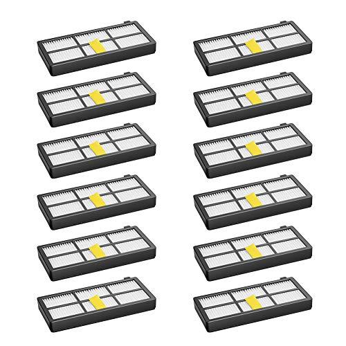 Juego de 12 filtros para irobot Roomba 800 850 851 860 865 866 870 871 876 880 885 886 890 891 896 900 960 966 980 Kit de accesorios de repuesto