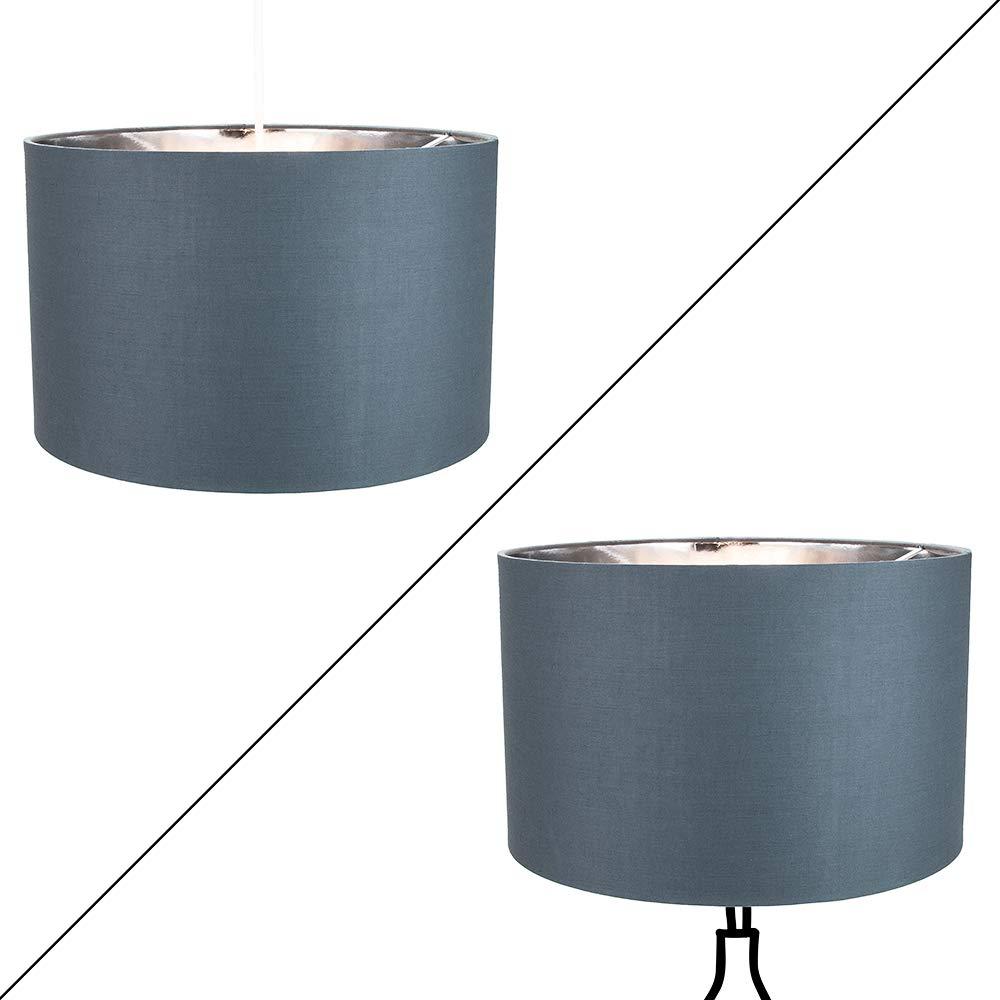 Contemporain en coton noir 10'table/suspension abat-jour avec intérieur doré brillant par Happy Homewares