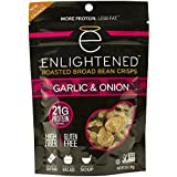 Enlightened Plant Protein Gluten Free Roasted Broad (Fava) Bean Snack, Garlic and Onion, 6 Count
