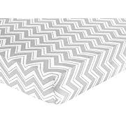 Sweet Jojo Designs Fitted Crib Sheet for Turquoise and Gray Chevron Zig Zag Baby/Toddler Bedding - Chevron Zig Zag Print