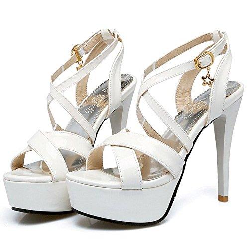 2 Mode Sandali Piattaforma Donna Stiletto White Zanpa XqF5Ux
