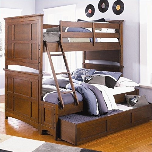 Magnussen Riley Bunk Bed in Cherry - Twin over (Twin Over Full Cherry Bed)