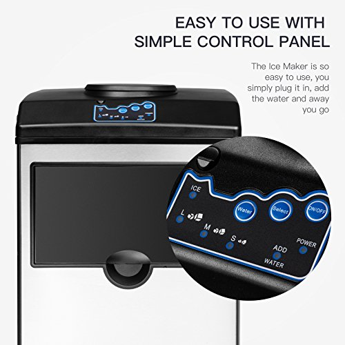KUPPET 2 in 1 Ice Maker Machine With Water Dispenser