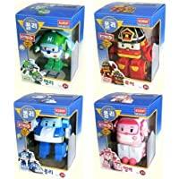 Robocar poli poli + Helly + amber + Roy (Transformable Robot Toys)