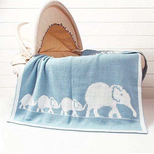 - Luerme Baby Knitted Blanket Throws Newborn Crochet Quilt Receiving Blanket Swaddle Wrap Stroller Cover Nursing Blanket Crib Rug Mat Print Blanket Warm Cuddle Sheet 30