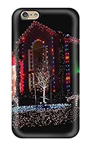 More Festive Lights Traditions Xmas Santa Claus Holiday Christmas Case Compatible With Iphone 6/ Hot Protection Case