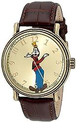 Disney Men's W001845 Goofy Analog Display Analog Quartz Brown Watch