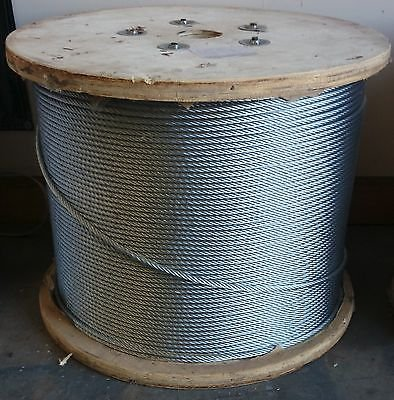 3/8'' Galvanized Aircraft Cable (700 feet) by Generic