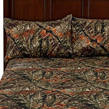 Camouflage, King,Soft Microfiber Polyester Bedding 4-Piece Sheet Set, Easy Care Wrinkle Resistant