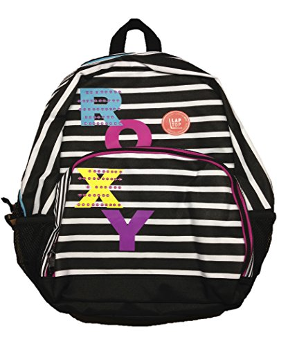 Roxy Women's Backpack Glam Squad Striped Laptop Black White