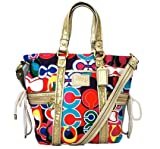 Coach Daisy Pop C Print Pocket Tote F21361 (Multicolor)