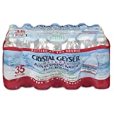 Crystal Geyser Natural Alpine Spring Water, 16.9 Ounce (35 Bottles)