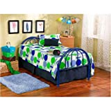 Brooklyn Metal Twin Bed, Multiple Colors, Blue