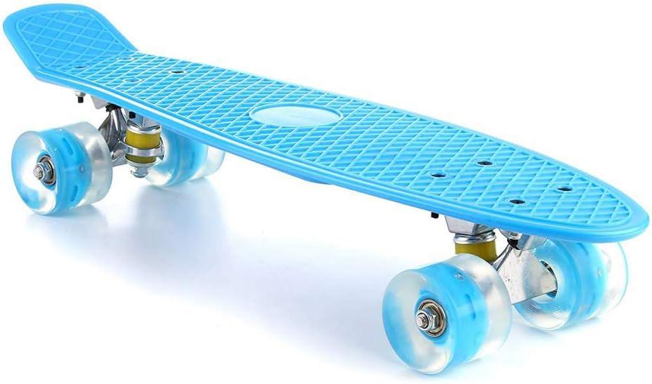 Streamline Skateboard Fish Shape with Flashing PU Wheels Eco PP Deck Lightweight Childrens Favorite Skateboard