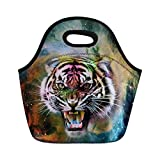 Galaxy Animal Neoprene Thermal Lunch Bag Casual Insulated Lunch Tote for Children