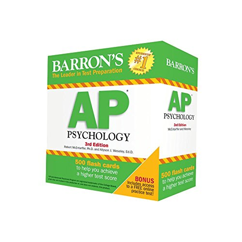 Barron's AP Psychology Flash Cards, 3rd Edition