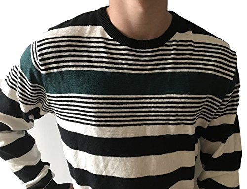 White Black Maglione Medium Mehrfarbig Zara Uomo A Green Righe wq4UnPFO