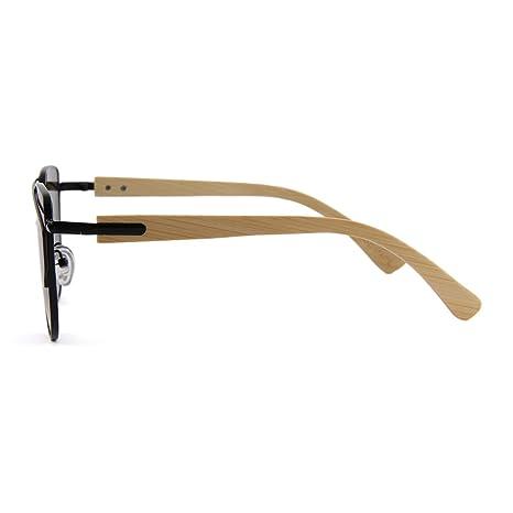bebdfd50da Retro Style Handmade Bamboo Polarized Aviator Style Sunglasses ...