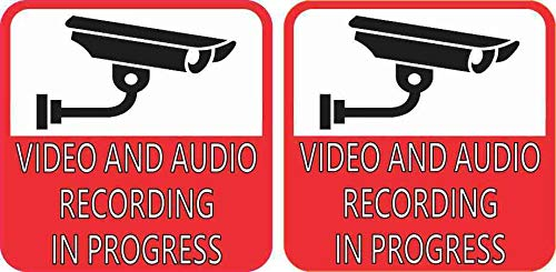 3in x 3in Red Video and Audio Recording in Progress ()