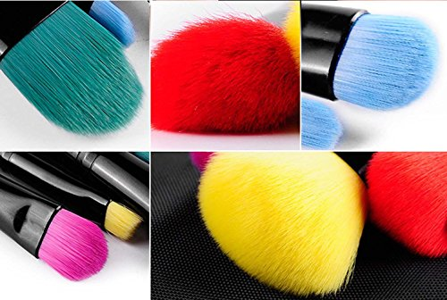 qcbc 6 Bürsten Make-up Schlampen Farbige Double Head Brush Head tragbar Fiber Hair Make-Up Set Bürste Beauty Makeup Creative Gifts