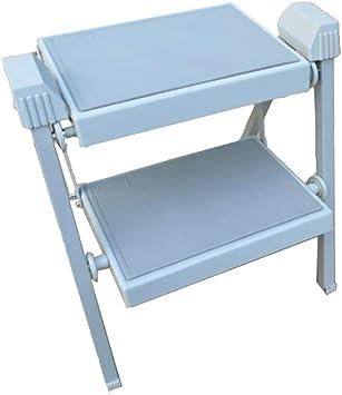 WYDM Taburetes portátiles de Dos peldaños Escalera Plegable Huerta de jardín Escaleras de Tijera Escalera Oculta telescópica (Color : Azul): Amazon.es: Electrónica