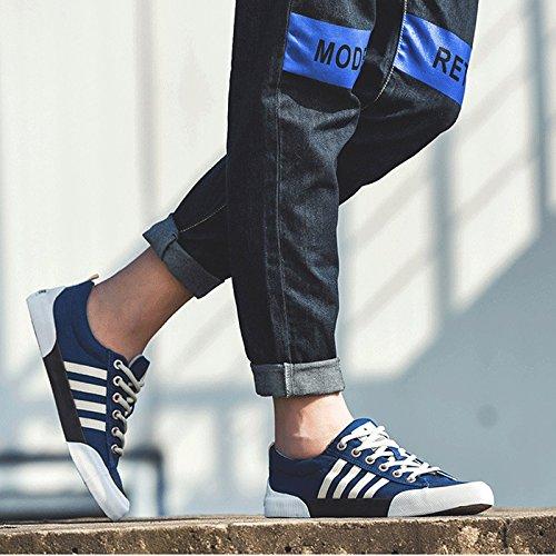 Blue di Coreana LIUXUEPING Ed Traspirante Primavera Scarpe Studente di Tendenza Stoffa Versione Sportivo Scarpe Tela Estate Scarpe Scarpe Maschio Casual XBq8BPwcpH
