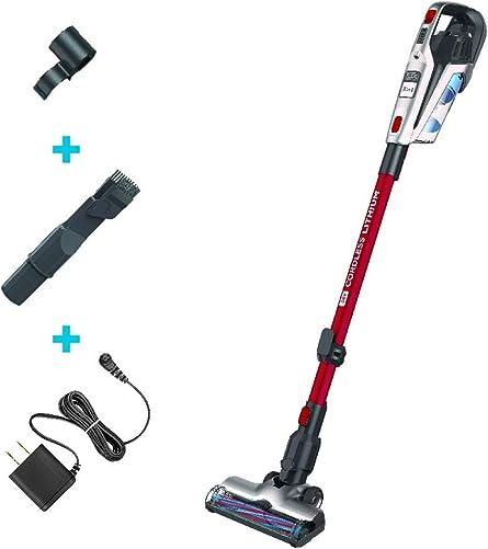 BLACK DECKER Cordless Stick Vacuum, 3-in-1 Cordless, Red HFEK620J