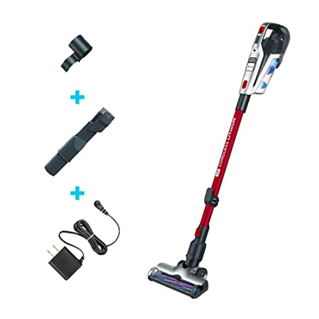 Black Decker HFEK620J 3-in-1 Cordless Stick Vacuum, Red