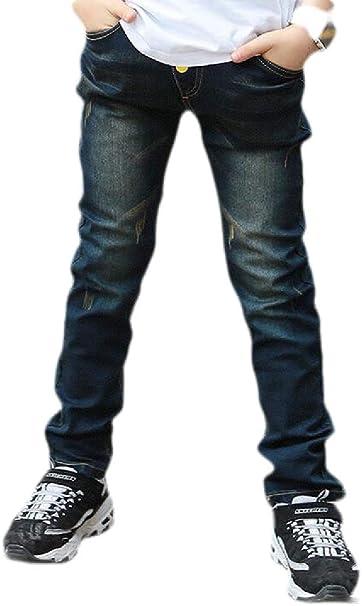 Wofupowga Boys Fashion Jean Denim Trousers Ripped Cute Pants