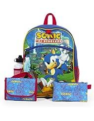 Sega Sonic Blue 16 Backpack Back to School Essentials Set