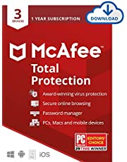 $24 » McAfee Total Protection 2020 Antivirus Internet Security Software, 3 Device Password Manager, Parental Control, Privacy, 12 Month - Download Code