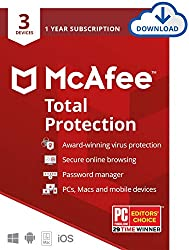 McAfeeTotal Protectionis the one-stop shop for digital protection, with award-winning cloud-based antivirus, intelligent web protection andcross-device compatibility to protect computers & mobile devices.