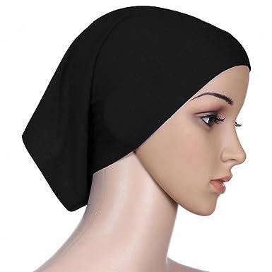 b4244139227 Magideal Women s Islamic Muslim Cotton Blend Headscarf Inner Hijab Cap  Underscarf Ninja Scarf (60db409b4a95c8e7a94b51d808cf63b2