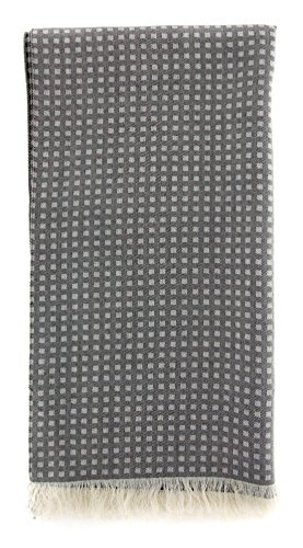 new-cesare-attolini-black-cotton-blend-scarf