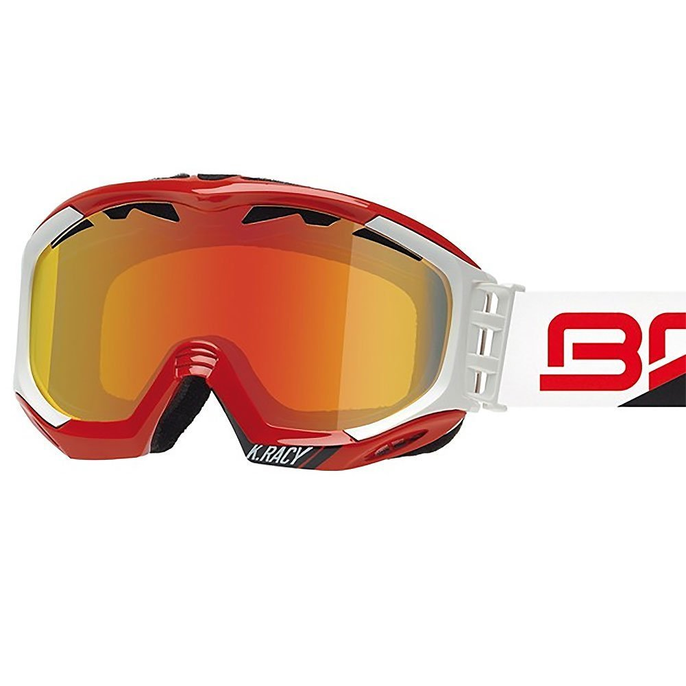 Briko K. Racy Shiny Red/Matt White Goggle Revo Metal Smoke Lens Made in Italy