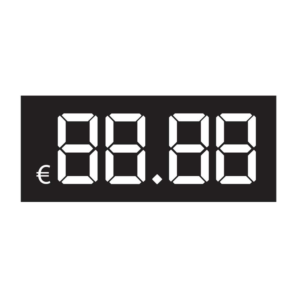 Etichette segnaprezzo mod. Digit - Set da 50 o 100 cartellini segnaprezzo adesivi o in cartoncino - Kamiustore (100 etichette CARTONCINO)