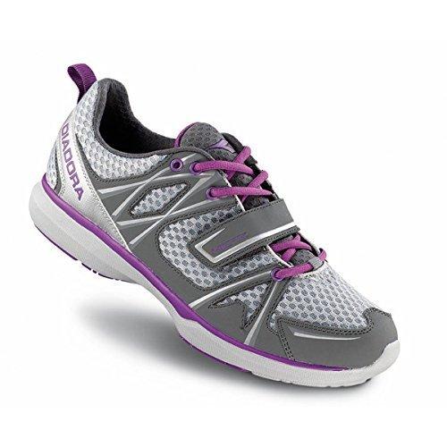 Diadora Women's Herz Indoor Cycling/ Mountain Biking Shoe - 170036 (Steel Gray/Dewberry - (Diadora Cycling Shoes)