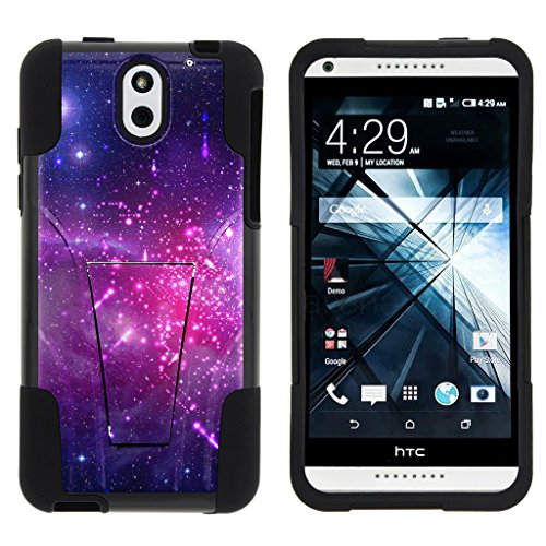 HTC Desire 610 Case, Desire 610 Kickstand Case [STRIKE IMPACT] Double Layered Hybrid Fusion Kickstand Case by Miniturtle - Heavenly Stars