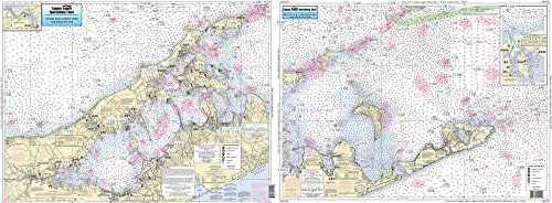 Inshore Montauk and Peconic Bays, NY - Laminated Nautical Navigation & Fishing Chart by Captain Segull