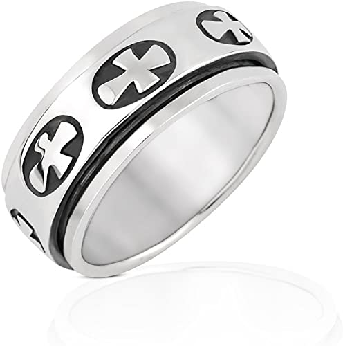 Designed For Maximum Comfort Fit For Men And Women Use Size 11.5 Silver Tungsten Carbide Faith Hope And Love Ring 8mm Wedding Band And Anniversary Ring