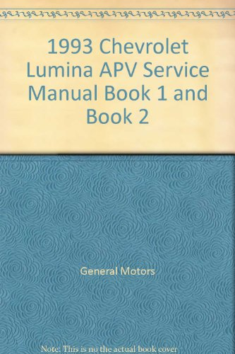 1993 Chevrolet Lumina APV Service Manual Book 1 and Book 2