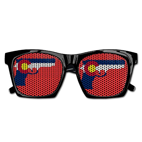 Elephant AN Themed Novelty Colorado Flag Gun Creative Visual Mesh Sunglasses Fun Props Party Favors Gift - Colorado For Sunglasses Sale