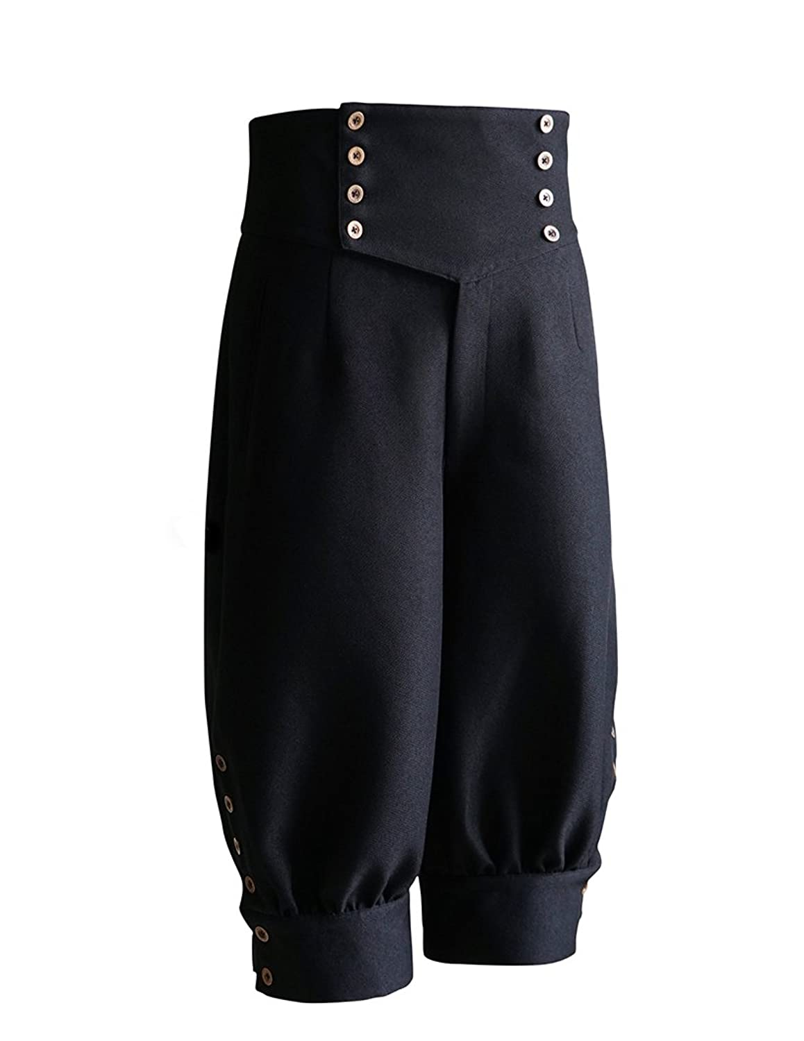 Steampunk Pants Mens Gothic Steampunk High Waist Short Riding Breeches $102.00 AT vintagedancer.com
