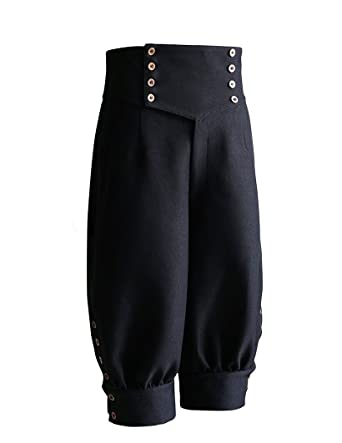 bf83f5e3f1 Steampunk Riding Breeches High Waisted Shorts Black Shorts Men Shorts  (Small)